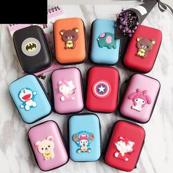 Mini Cartoon Earphone Storage Bag Case For Headphone Key Coin Hard Holder Box Carrying Hold Memory Card Ear Pads