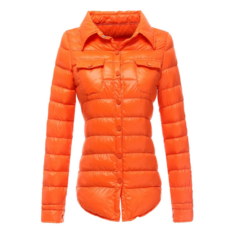 Manteau Femme Stand Collar Slim 90% White Duck Women Ultra Light Down Jacket Casual Padded Coat Chaqueta Mujer Giacca Donna 864