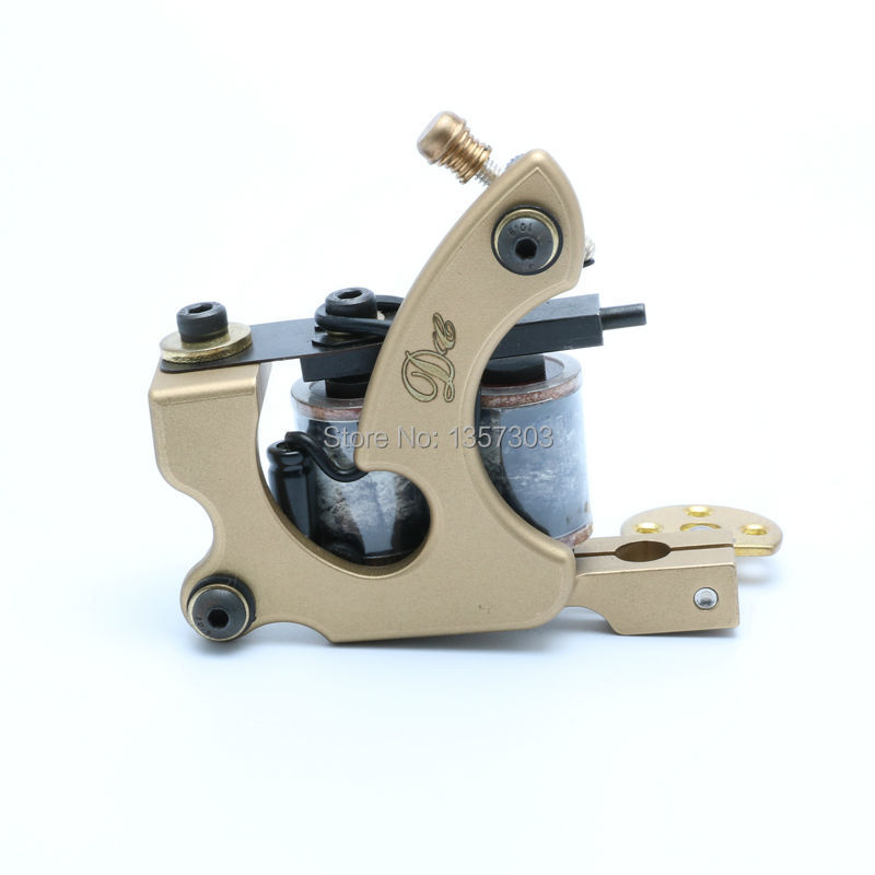 DC Handmade Whole Wire Cutting Copper Machine Tattoo Machine 10 Wraps Coil Tattoo Gun Liner and Shader