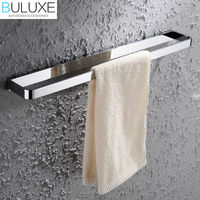 BULUXE Solid Brass Bathroom Accessories Towel Bar Holder Chrome Finished Wall Mounted Bath Acessorios de banheiro HP7704