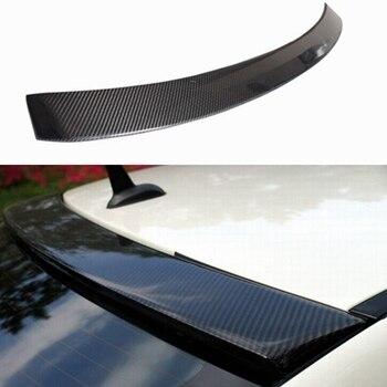 Für Mercedes-Benz C Klasse W204 C180 C200 C300 C260 Spoiler 2007-2014 Carbon Fiber Hinten Stamm Lip Dach Spoiler Flügel Auto Styling