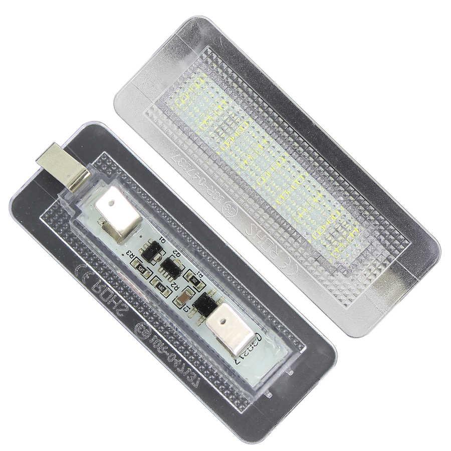 2 piezas 18SMD LED placa de matrícula número de lámpara de luz Error gratis para Benz Smart Fortwo Coupe 450 W450 W451 W453 lámpara número 12 V