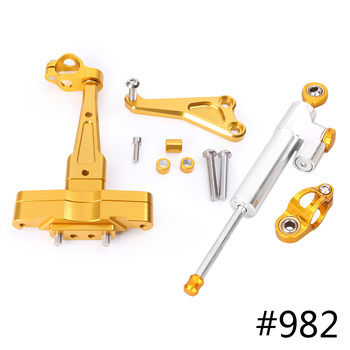 For Honda CB650F Steering Damper Stabilizer w/ Bracket Set Saftety Control Anodized Aluminum 2014-2016 Motorcycle Accessories