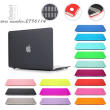 2016 New Color Matte Case For Apple Macbook Air Pro Retina 11 12 13 15 Laptop Cover Bag For Mac book air 13 case