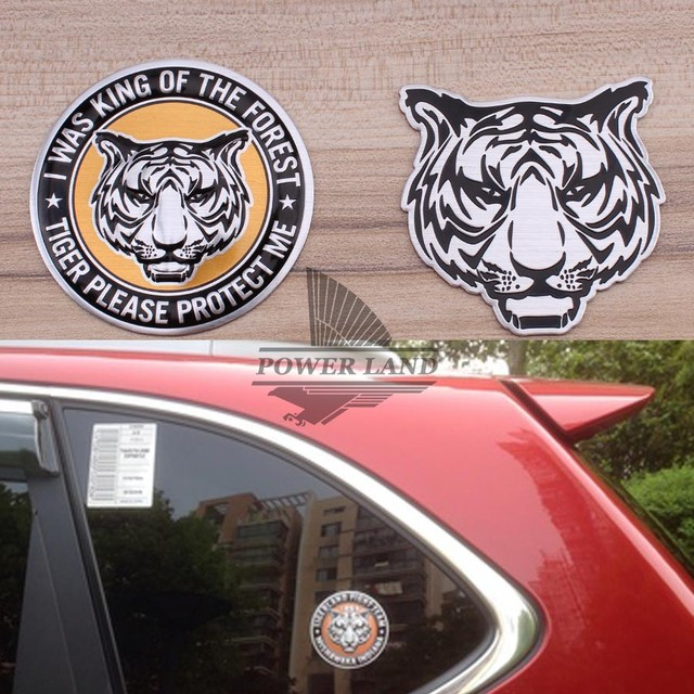 3d Aluminum Chrome Tiger Car Stickers Decal Car Styling For Vw