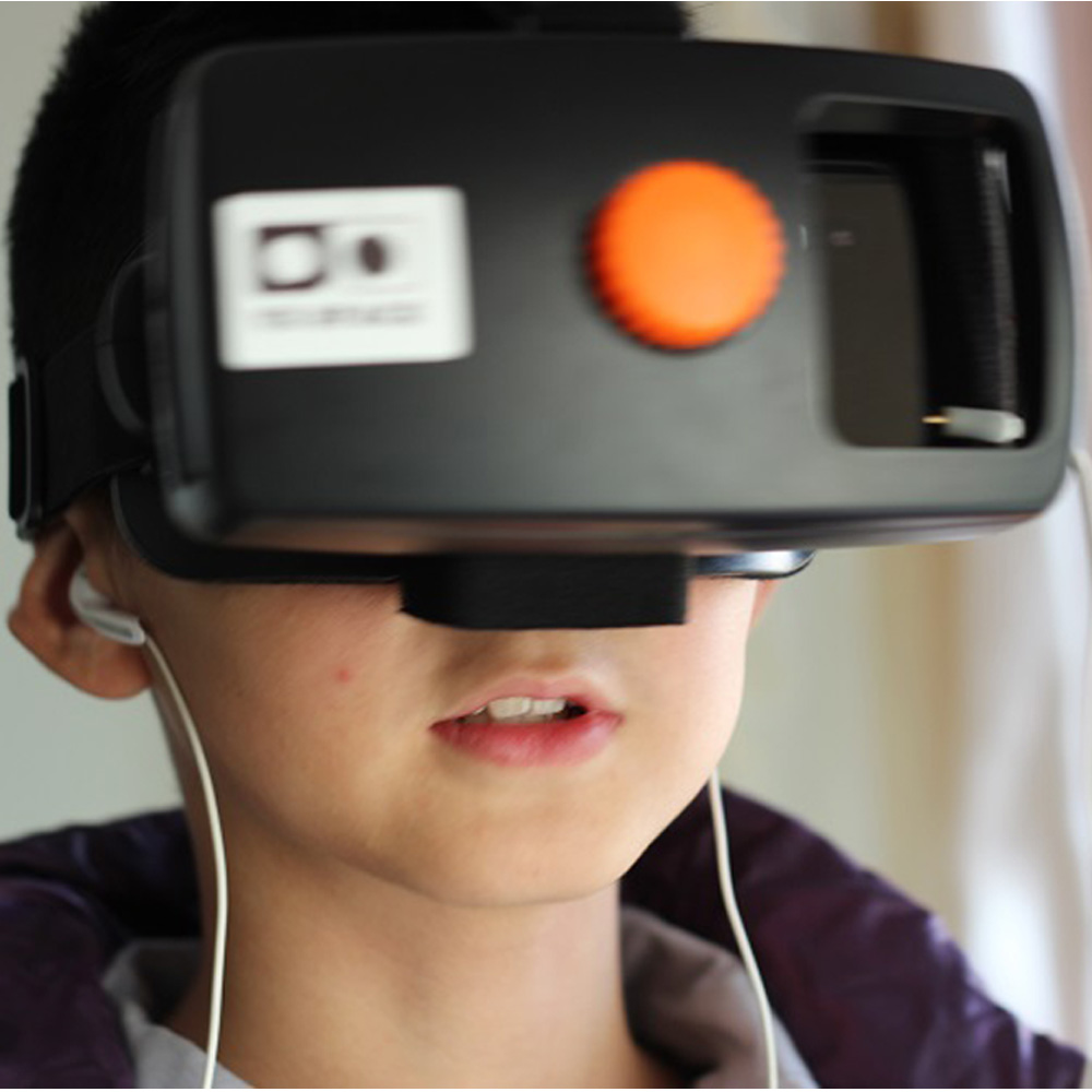 <font><b>Google</b></font> <font><b>Cardboard</b></font> <font><b>Head</b></font> <font><b>Mount</b></font> Plastic 3D Virtual Reality <font><b>Glasses</b></font> <font><b>VR</b></font> <font><b>Box</b></font> <font><b>VR</b></font> Space 3D <font><b>VR</b></font> <font><b>Glasses</b></font> for Samsung 4~5.7 Inch Smartphone