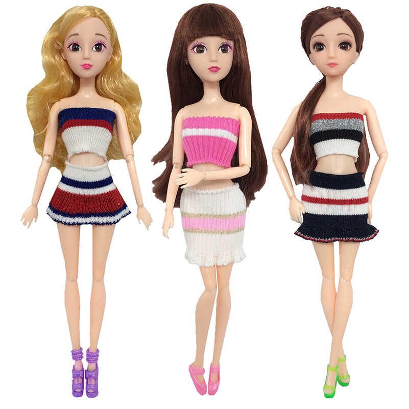 3 шт./компл. Одежда для кукол аксессуары 30 см соединенная Кукла одежда свитер ручной работы аксессуары для юбки для кукол игрушки для девочек