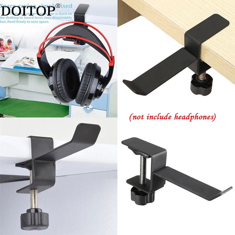 DOITOP Universel Mode Destop Montage Stand de Support Pour Casque Cintre En Métal Crochet Casque Étagère Rack Écouteurs Stand Avec Vis