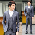 2017 new arrival men terno masculino Slim mens suits wedding groom men's casual wear three-piece suit Groom Tuxedos