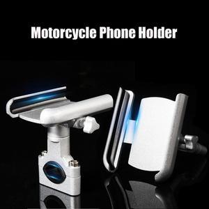 Image 1 - جديد سبائك الألومنيوم دراجة نارية حامل الهاتف دعم مرآة الرؤية الخلفية حامل موتو المحمول ل GPS الدراجة المقود حامل