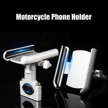 Soporte de teléfono para motocicleta, de aleación de aluminio, para espejo retrovisor, soporte para Moto móvil, para GPS, manillar de bicicleta
