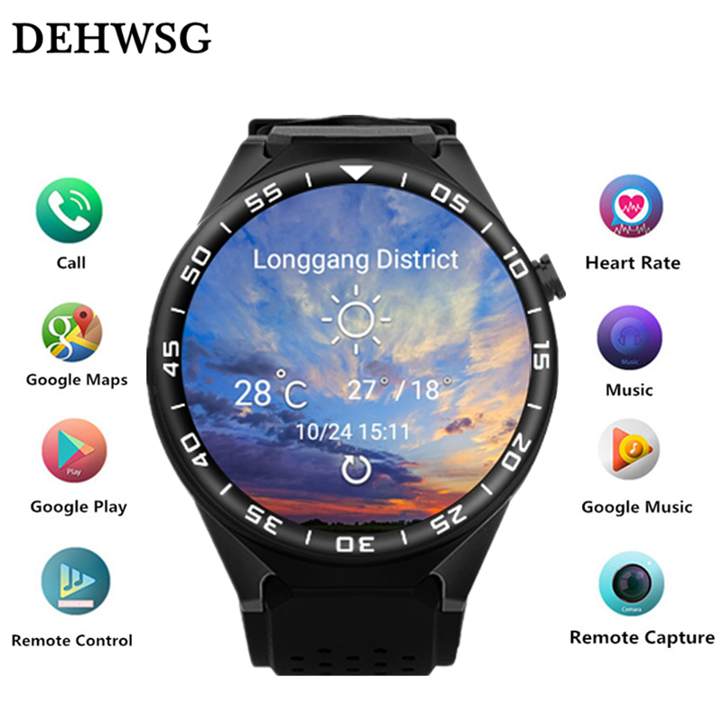 DEHWSG Bluetooth Smart Watch D09 with 2MP Camera 2GB RAM 16GB ROM Support SIM Card 3G+WIFI+GPS Smartwatch for Android IOS Phone 3g smart watch finow k9 android 4 4 bluetooth wcdma wifi gps sim smartwatch colock phone for ios