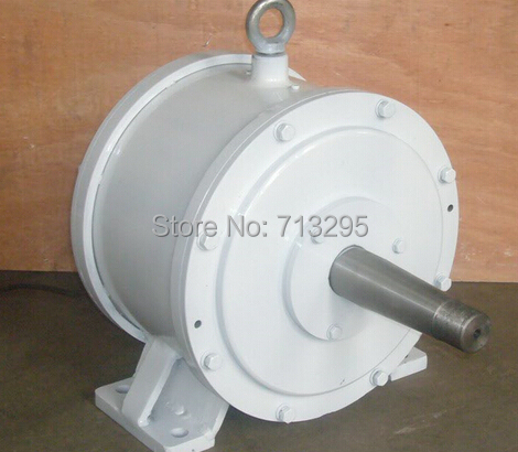 5KW 200RPM 230VDC low rpm horizontal wind & hydro alternator/ permanent magnet water power dynamotor hydro turbine