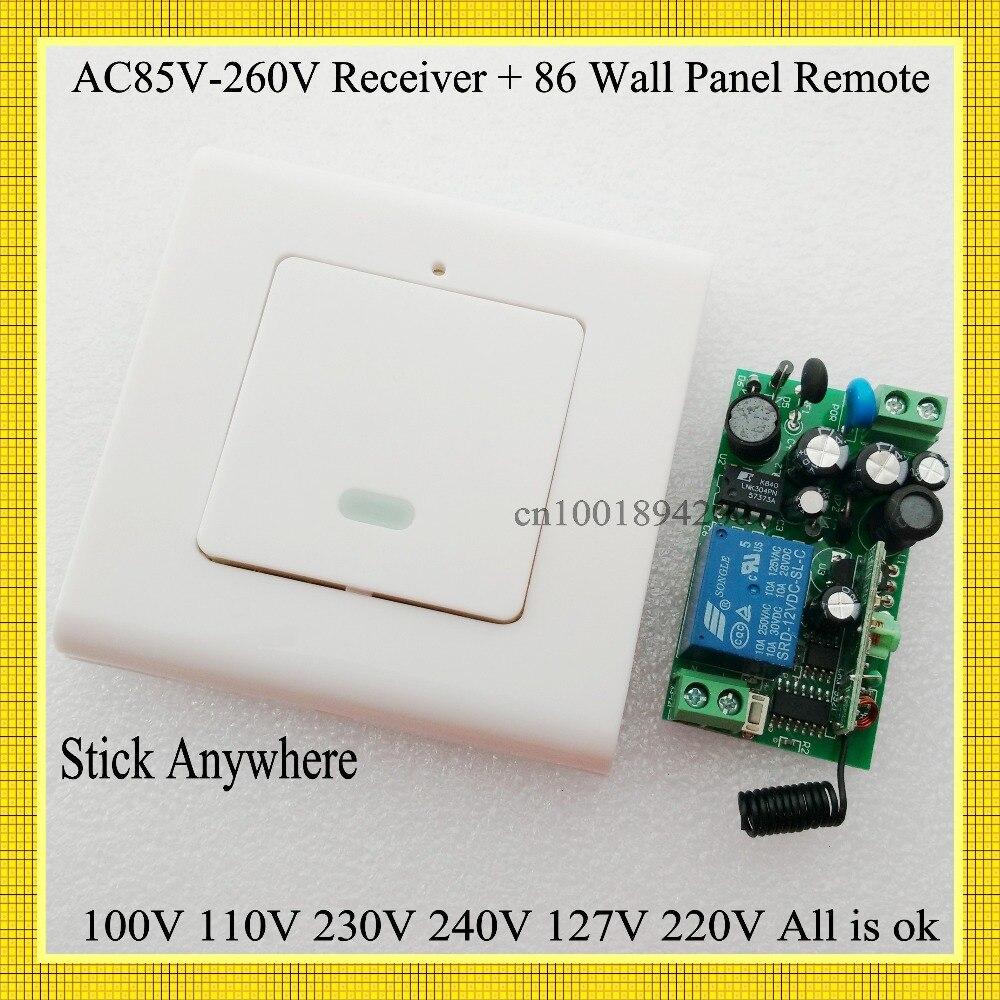 AC 85 В-260 В 100 В 110 В 230 В 240v127v 220 VLED лампа почти настенные светильники лампа дистанционный переключатель настенный Панель удаленного передатчик...