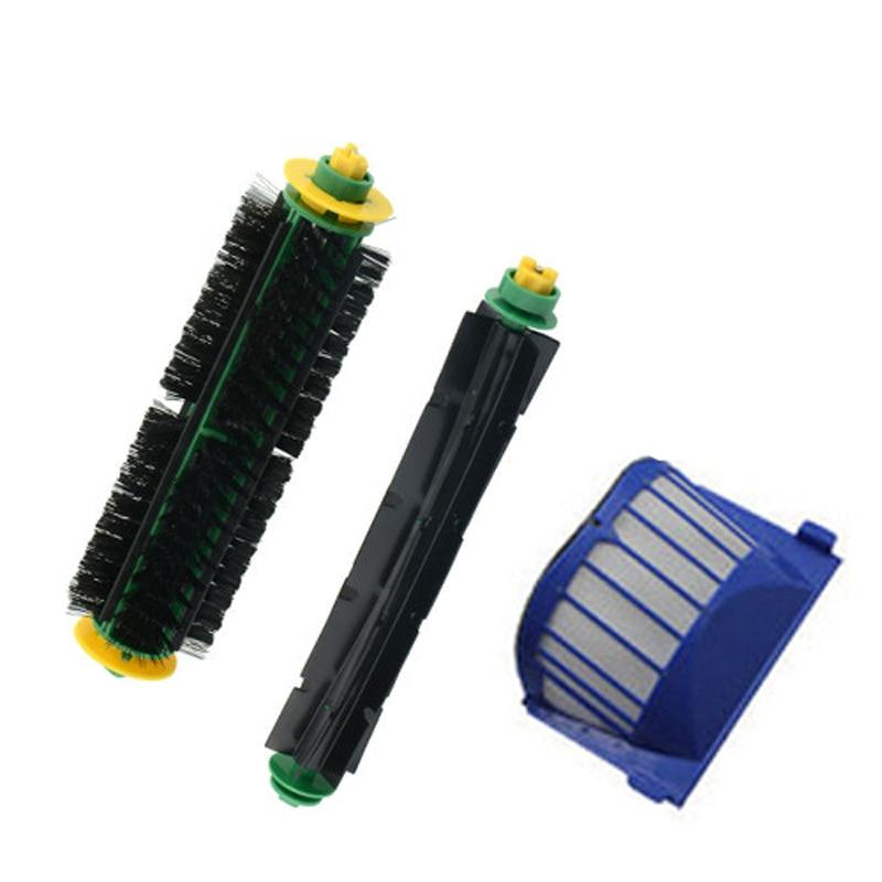 цены на Free Shipping!1 Set Bristle Brush and Flexible Beater Brush+AeroVac Filter for iRobot Roomba 530 540 550 560 570 580 в интернет-магазинах
