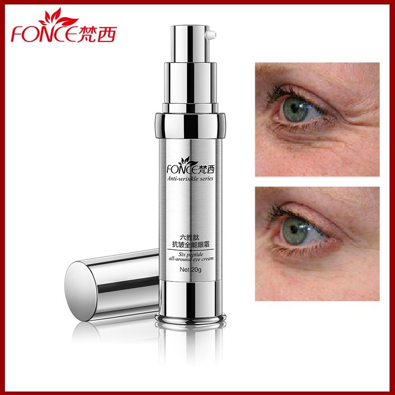 Fonce Six peptides Anti Wrinkle eye cream Focus on eye wrinkl Dark Circle Cream Anti Aging Moisturizing crow feet Anti Puffiness
