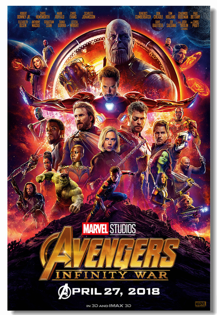 Custom Canvas Wall Decor Avengers Infinity War Poster Marvel