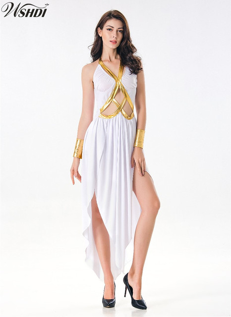 3eb0aa2dab4 Sexy Egyptian Cleopatra Costume Roman Princess Clothing Adult Women  Halloween Greek Goddess Dress Fancy Costume Outfits