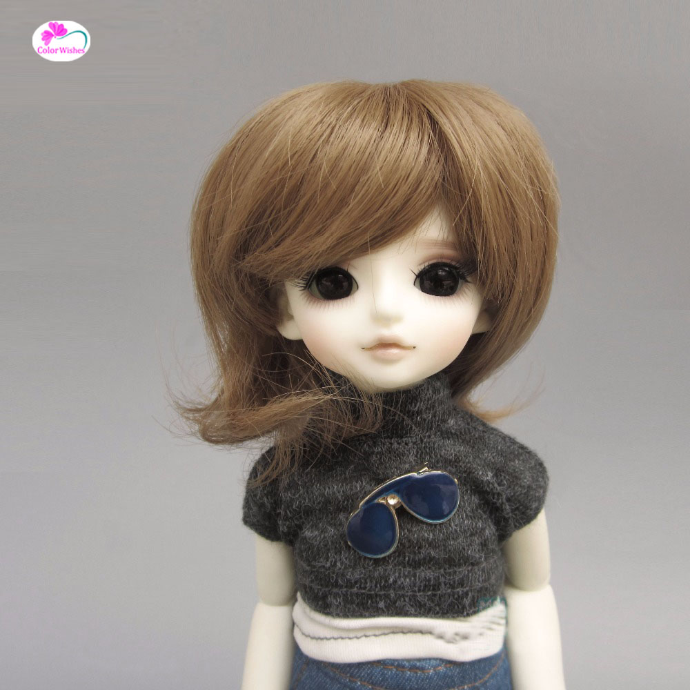 Fashion bjd doll hair for 1/3 1/4 1/6 BJD/SD doll wigs Accessories Big wave curls wowhot 1 4 bjd sd doll wigs for dolls high temperature wires short straight bangs fashion wig 1 6 1 3 for dolls accessories toy
