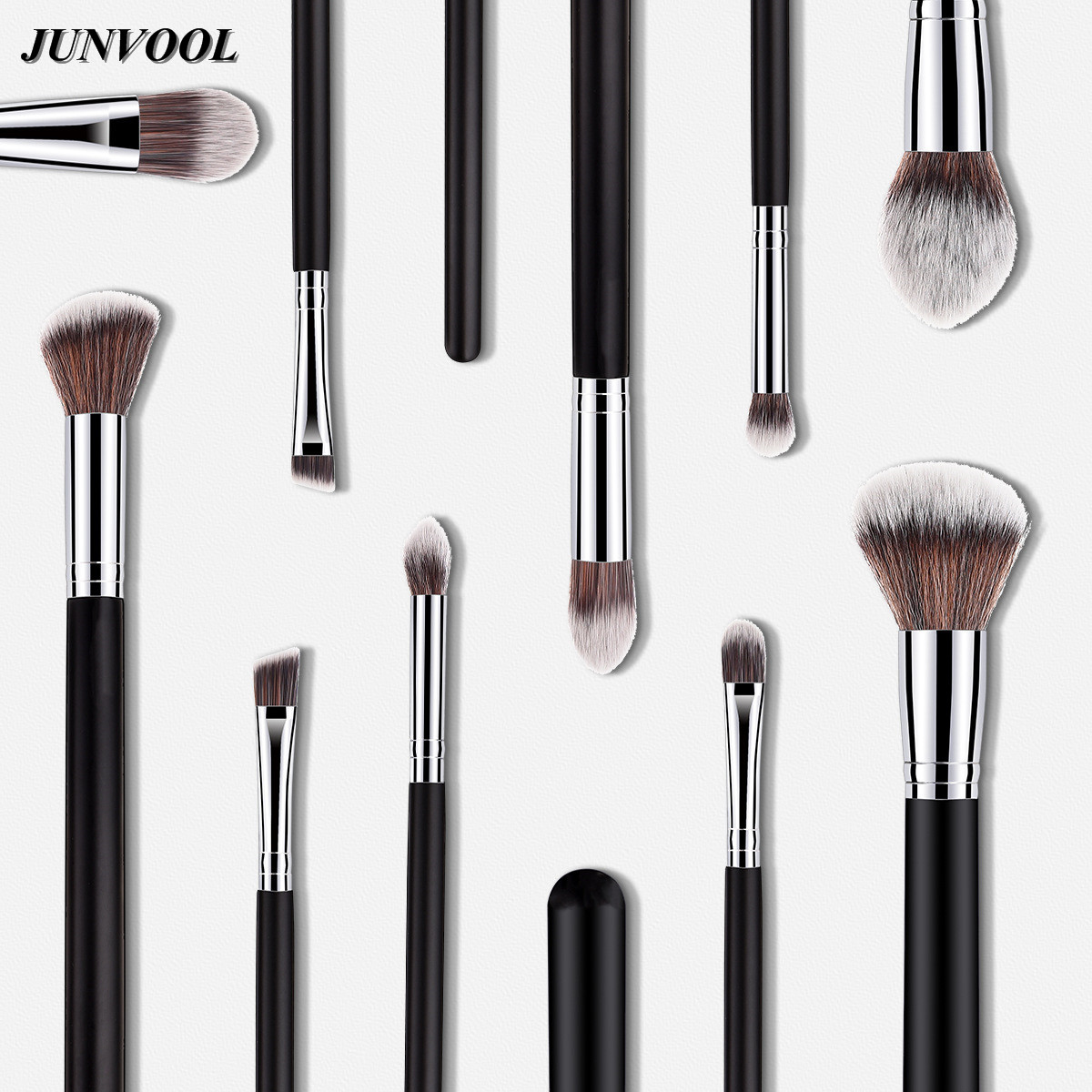 1Pcs Make Up Tools Kit Silver Black Soft Concealer Flame Makeup Brush Synthetic Hair Cosmetic Blush Foundation Eyeshadow Brushes