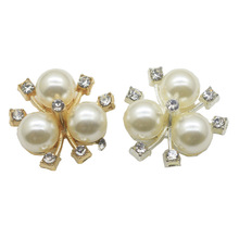 20mm Trifolium Pearl Sewing Buckles embellishments apparel handmade boutons decorative buttons free shipping 10pcs