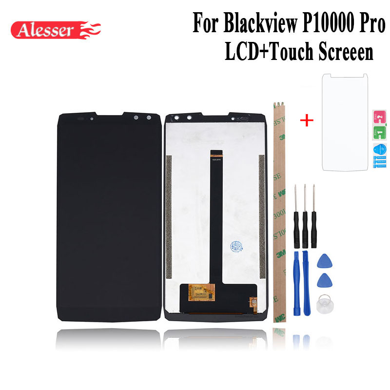 Alesser For Blackview P10000 Pro LCD Display and Touch Screen  Assembly Repair Parts With Tools  Film For Blackview P10000 ProMobile  Phone LCD Screens