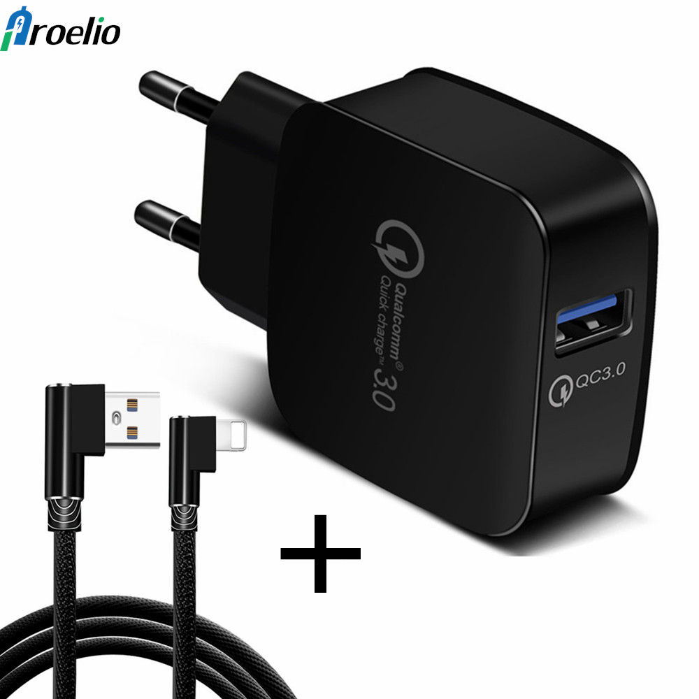 Phone Charger Quick Charge 3.0 18W Fast USB Universal Charger (Quick Charge 2.0 Compatible) for Samsung S8 S8 Plus A3 A5 A7 2017