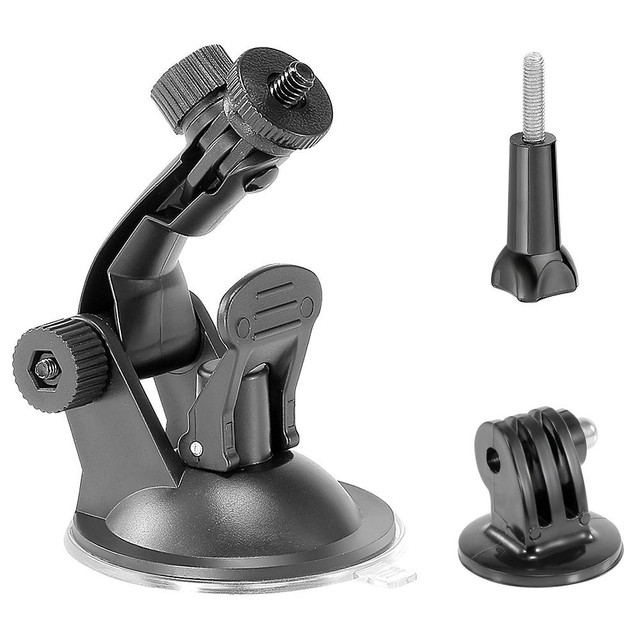 US $2 13 24% OFF|Sports Suction Mount Tripod + Installation Screw for GoPro  Hero 7/6/5/4/3/3+/2/1 Camera Black-in Tripods from Consumer Electronics on