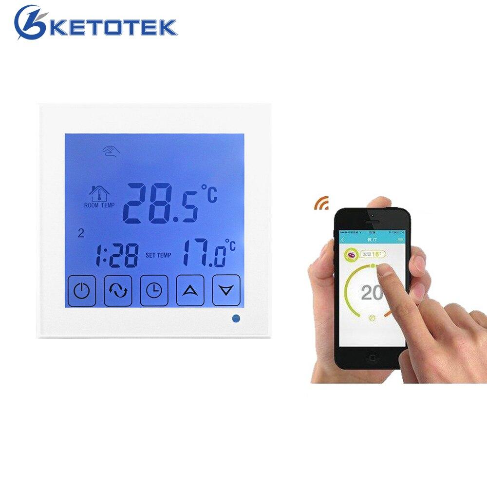 Bouton//Touche WiFi LCD Smart Thermostat Programmable Chauffage électrique APP téléphone