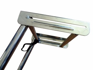 Image 5 - 3 Steps Pulley Stainless Steel Under Platform Ladder for  boat accessories marine