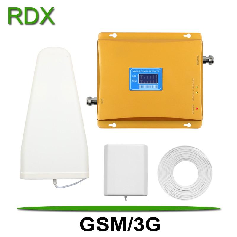 Haute qualité double bande 900 2100 répéteur de Signal téléphone Mobile 2G 3G GSM WCDMA UMTS amplificateur de Signal avec antenne de panneau