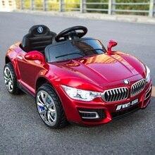 6 В Детский электромобиль четыре колеса двойной привод независимых качели удаленного Управление игрушечный автомобиль раннее образование машина может занять детей