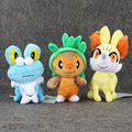 3styles Kawaii Anime Figures Collectible Froakie&Fennekin Fox&Chespin Plush Toys Blaze Game Soft Stuffed Gifts Toys