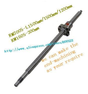 RM2005 Ballscrew (length 1500mm/1500mm/1200mm)+RM1605-300mm + end machining for cnc parts