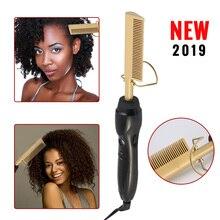 Electric Comb Straightener High Heat Press Comb Hot Straightening Electric Comb Environmentally Titanium Alloy Hair Care