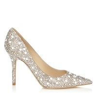 Women Wedding High Heel Shoes Sexy Twinkling Crystal Thin Heel Women Pumps Pointed Toe Party Dress