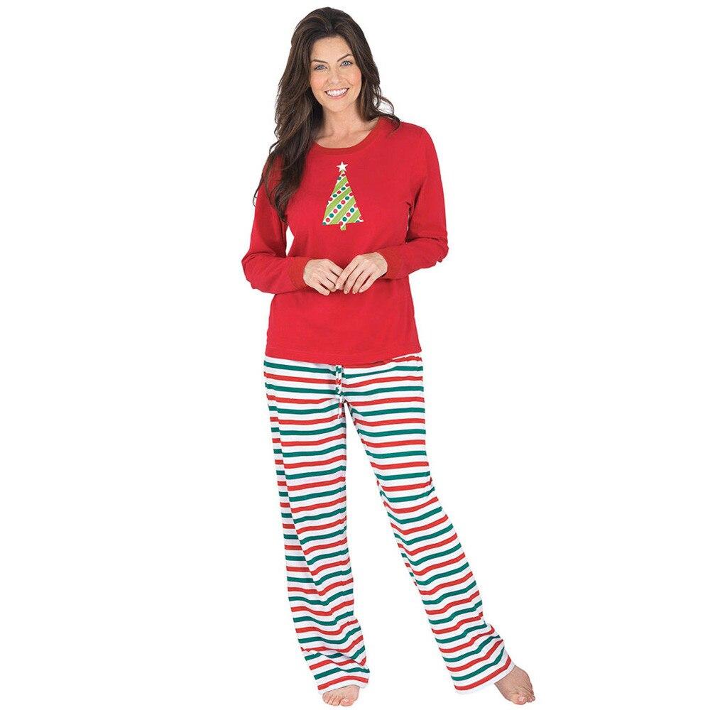 MUQGEW Casual Adult Christmas Gifts Xmas Pajamas for Women Girls Sleepwear Men Nightwear Pijamas mujer