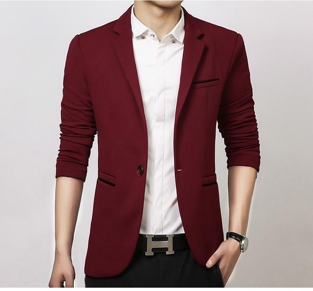 Mens Coreano slim fit moda algodão Jaqueta blazer Terno preto azul bege plus size M para 5XL blazers Masculinos Mens casaco de Casamento vestido