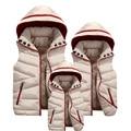 Новый 2017 Мода Детская Одежда Зимнее Пальто Девушки Детей Мальчики Жилет Куртка С Капюшоном Дети Мальчик в девочке Жилеты и Жилеты