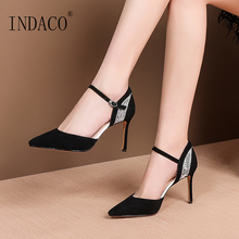 Sandals Women Summer Shoes Footwear Pointed Toe High Heel Work