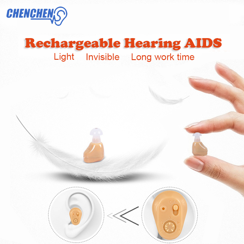 New Invisible Hearing AID Low Noise Sound Amplifier Hearing AIDS for Hearing Loss Elderly Deaf Ear Care Tool in Hearing Aids from Beauty Health