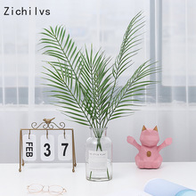 Zichilvs Artificial Palm Tree Branches Wild Faux Foliage Leaves Plants Home Living Room Wedding Decoration Jungle Party Decor все цены