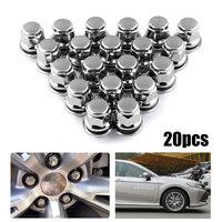 20pcs/Set Auto Wheel Hub Screw Cap Metal Steel Fastener Clips Car Nuts Car Wheel Nut Hub Car styling Caps for Toyota for Camry