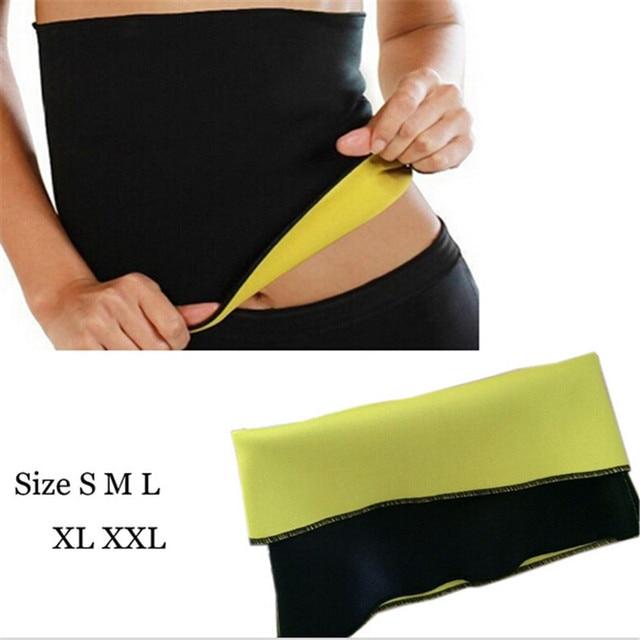 25068ab89f5c9 1PCS High Quality Hot Woman Tummy Trimmer Slimming Belt Waist Trimmer  Fitness Belt Fat Burning Fitness Corset Body Shaper Wear