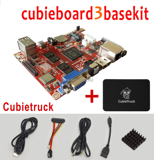 Cubieboard 3/Cubietruck 2GB DDR3 8G NAND Wifi BT  MINI pc  open hardware +Ewell case +Singapore Post Free Shippping Dropshipping