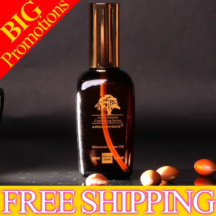 Hot sale !!! 2*50 ml  Organic Argan Oil for hair salon treatment free shipping best new product on sale 30% 750ml brazilian keratin hair treatment hair free shipping