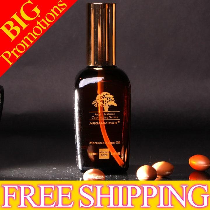 Hot sale !!! 2*50 ml  Organic Argan Oil for hair salon treatment free shipping маска kativa argan oil intensive repair treatment объем 35 г