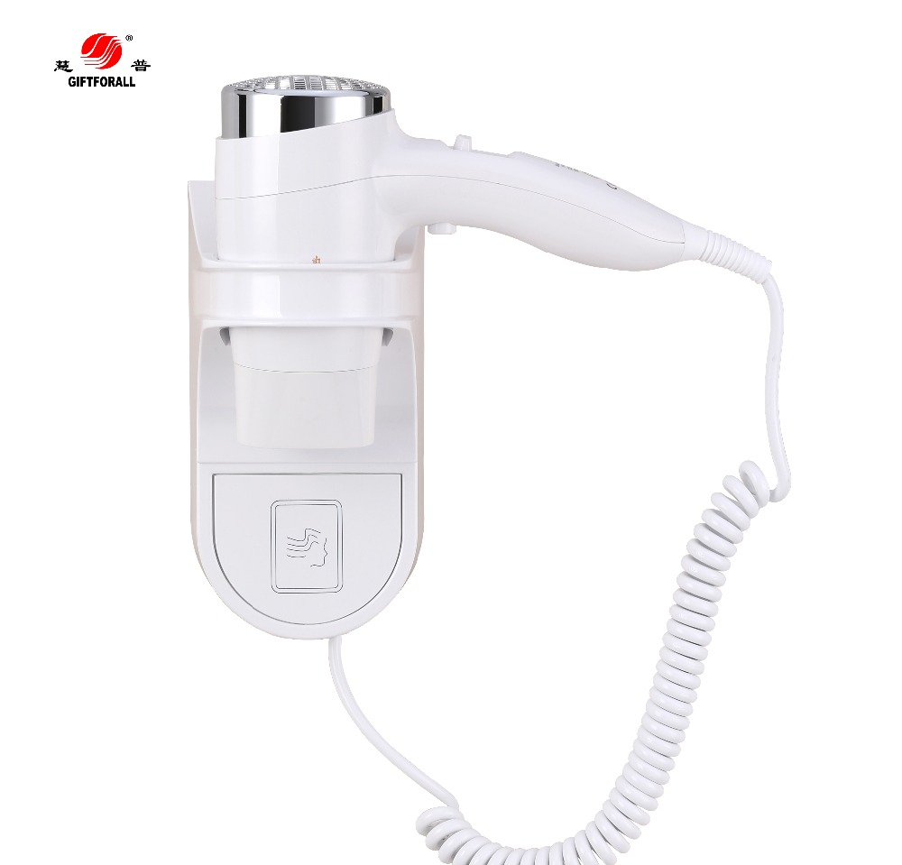 GIFTFORALL Hotel Hairdryer 2017 New Hot/cold Air Wall Mounted Hair dryer Professional Electric Bathroom Use