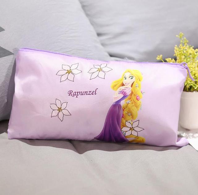 1pc new beautiful cute Princess Series Mermaid Alice Cosmetic Bag Portable travel Storage bag figure toys gift