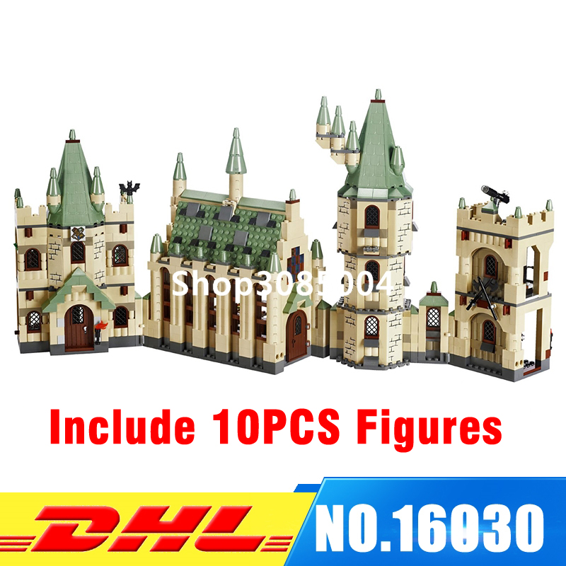 DHL LEPIN 16030 1340pcs Hogwarts Castle School Building Blocks Kit Set Building Blocks Bricks Toys Fit For 4842 lepin 16030 1340pcs movie series hogwarts city model building blocks bricks toys for children pirate caribbean gift